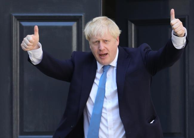 Newly elected leader of the Conservative party Boris Johnson arrives at Conservative party HQ in Westminster, London, after it was announced that he had won the leadership ballot and will become the next Prime Minister. PRESS ASSOCIATION Photo. Picture da