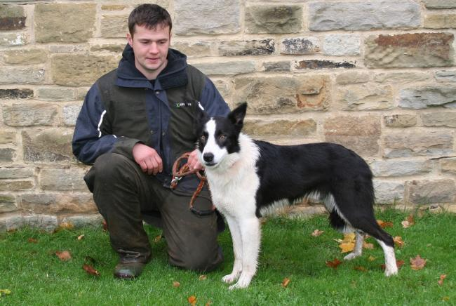 Ross Games with Bill his 7,600gns top price dog Picture: MOULE MEDIA, SKIPTON