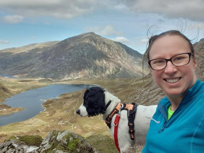 National Trust's Rachel Forsyth with her dog