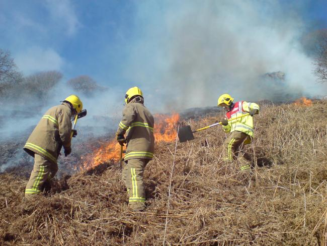Moors fires. Generic fire image submitted by Cumbria County Council for 999 community content network.