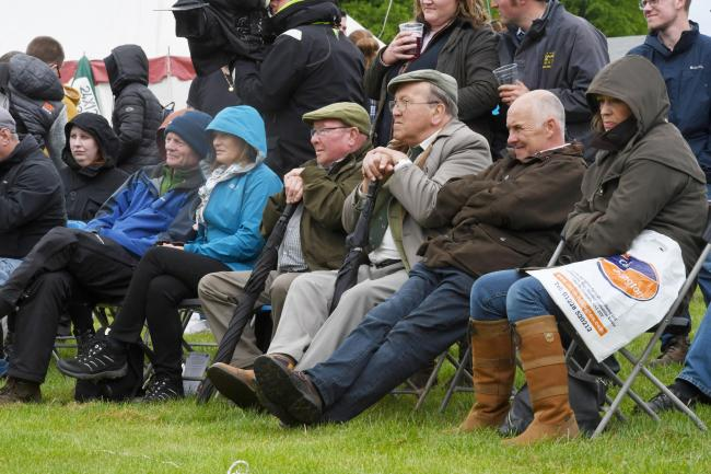 SPectators at the under 13 stone championship in the Cumberland and Westmorland wrestling at Northumberland County Show. County Show 2019. Photo: HX221989. KATE BUCKINGHAM.